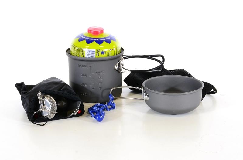 Outdoor Set 2 - Vařič, nádoby, příbory, křesadlo