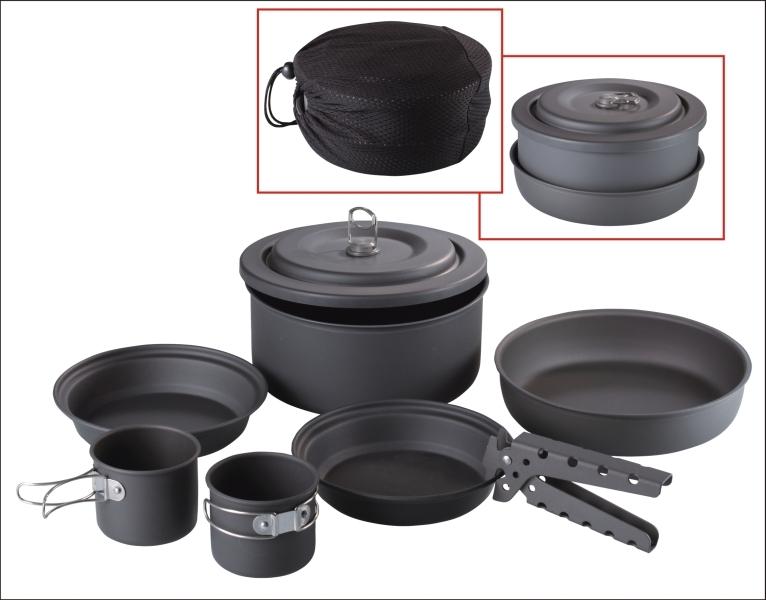 Rybářské kemping nádobí - výhodný set 6ks