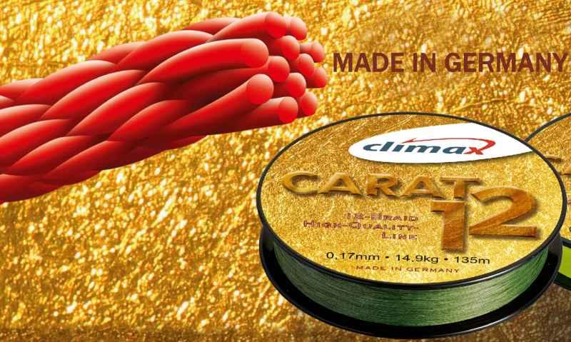 Přívlačová šnůra Climax Carat 12 Oliva 135m,0,13/9,5kg