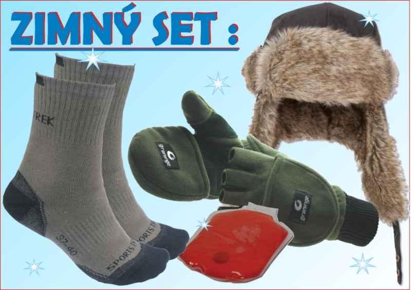 SPORTS Winter set:ušanka+rukavice+ponožky,hřejitko vel.37-40