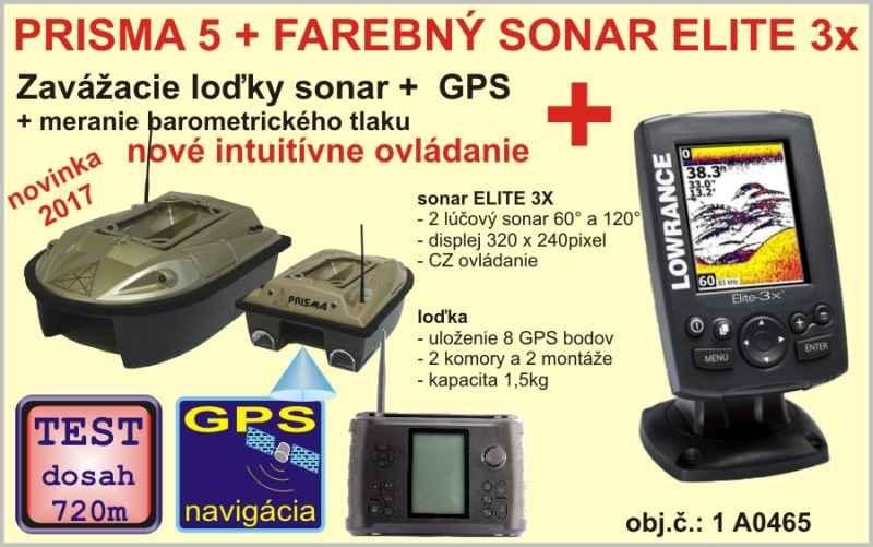 Zavážací loďka PRISMA 5 + sonar+GPS +  sonar