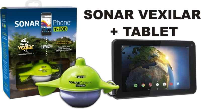 Set: Nahazovací WIFI sonar VEXILAR a tablet