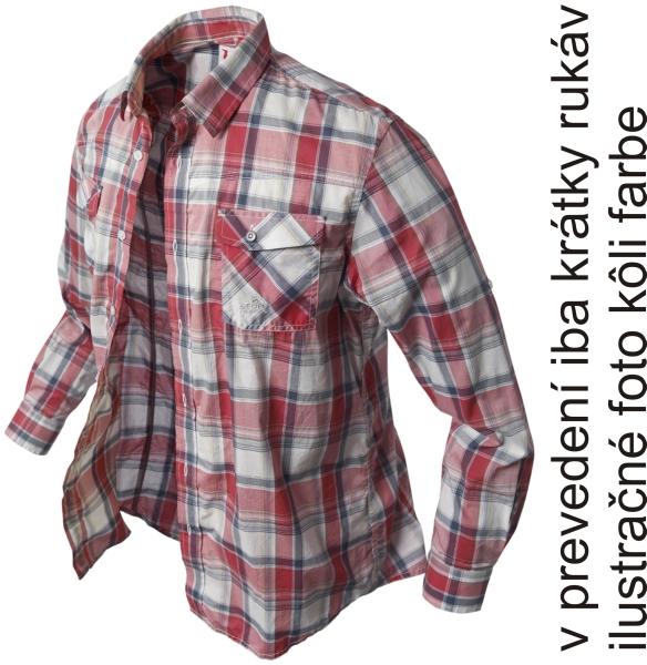 Krátká košile BANGA (červená/kostkovaná) vel.XXXL