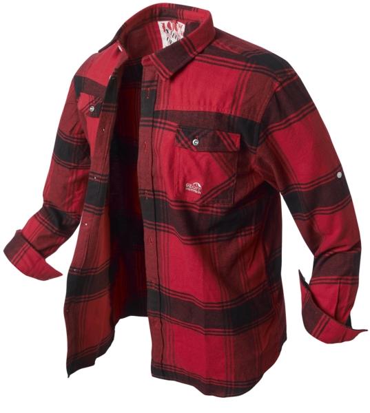 Košile flanelová BANGA(red/black) vel.XXXL