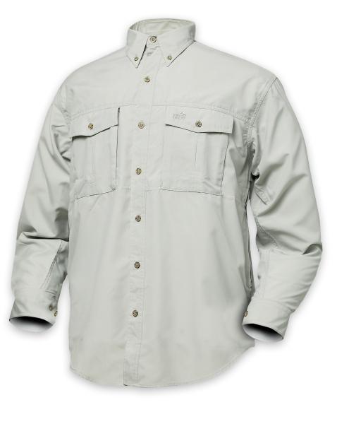 Polybrush košile GEOFF dlouhý rukáv cement XXXL