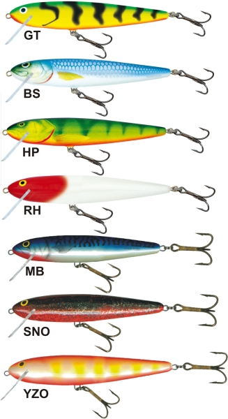 SALMO Wobler Whitefish SW13DR barva SNO