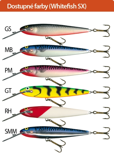 SALMO Wobler Whitefish SW13SX barva PM