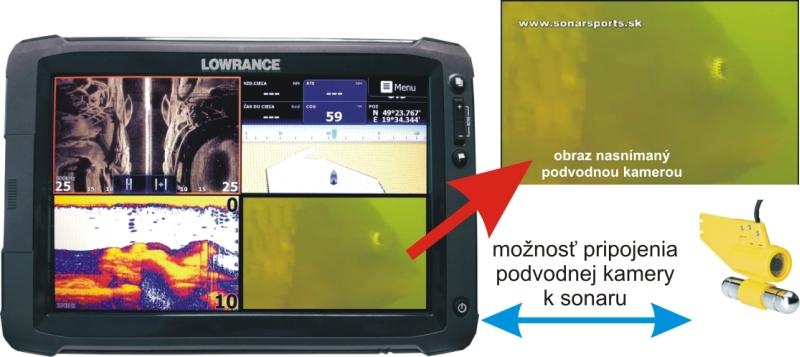 Podvodní kamera k dotykovým HDS GEN2 9 a 12 sonarem