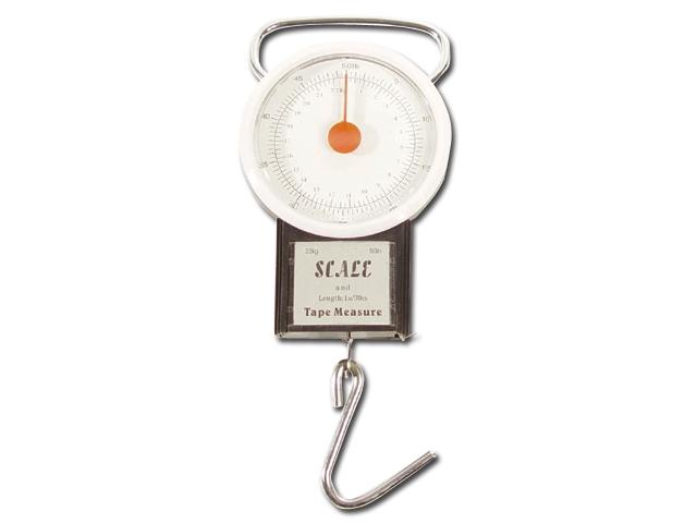 Rybářská váha s metrem do 22kg