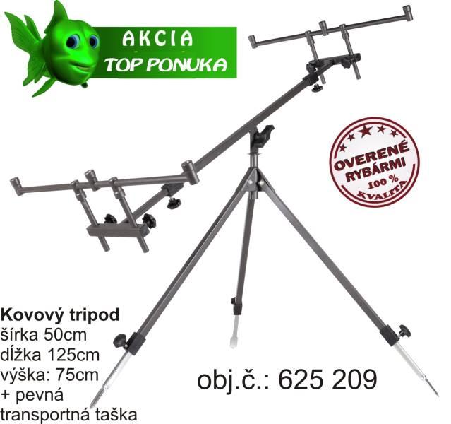 Rybářský Tripod kovový šířka: 50, délka: 125, výš: 75cm