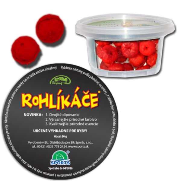 Rohlíkové boilies extrem carping 18mm robin red