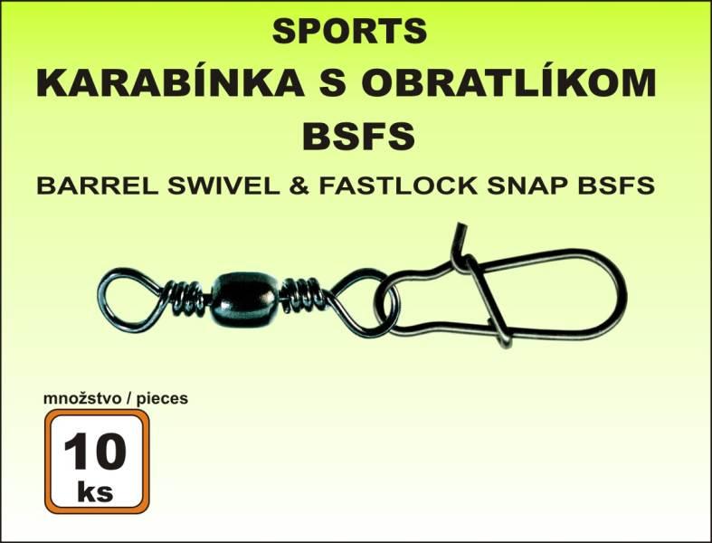 Karabinka s obratlíkem BSIS - 10ks v bal. vel. 20/4kg