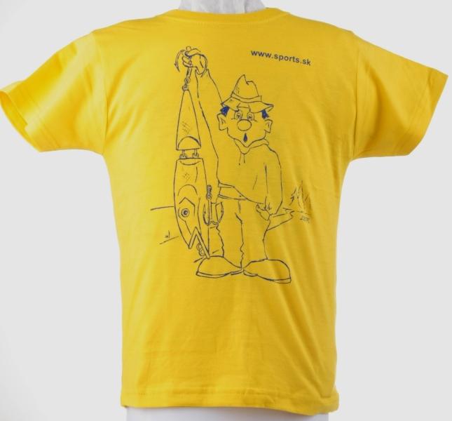 Tričko děts. Rybář s wobbl.žluté č.9(dítě9-10roků)
