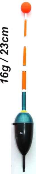 Splávek na ryby, délka 230mm / nosnost 16 gr
