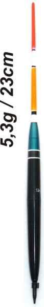 Splávek na ryby, délka 230mm / nosnost 5,3 gr