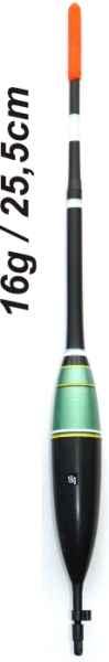 Splávek na ryby, délka 255mm / nosnost 16 gr