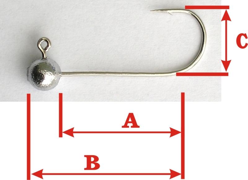 Rybářské jigy VMC Koule bez krčku 3g / vel.h1