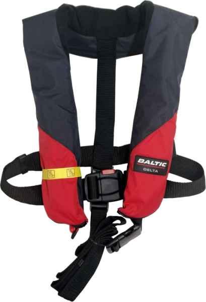 Záchranná vesta AUTOMATIC černo červená 150N 40-150kg