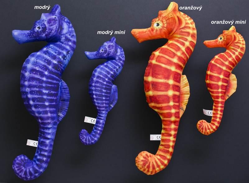 Dekorační polštář - Mořský Koník modrý 60cm
