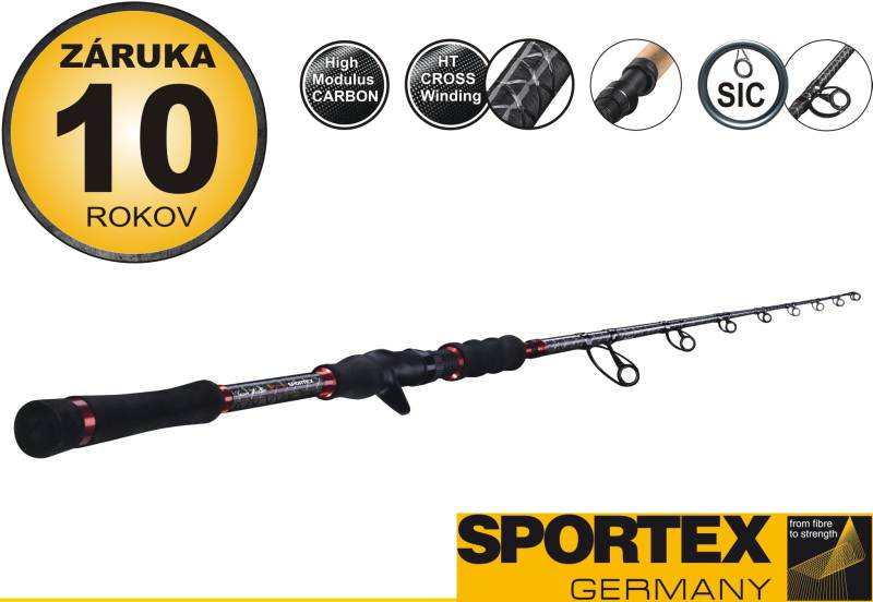 Rybářský prut - Sportex - TW Fireball - Dvoudílný