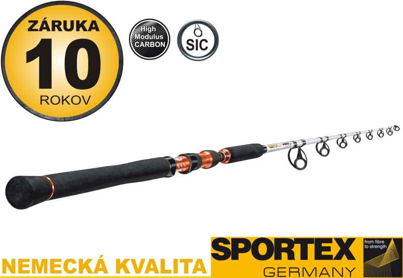 Rybářský prut-SPORTEX - Turbo Cat FireBall-dvoudílný