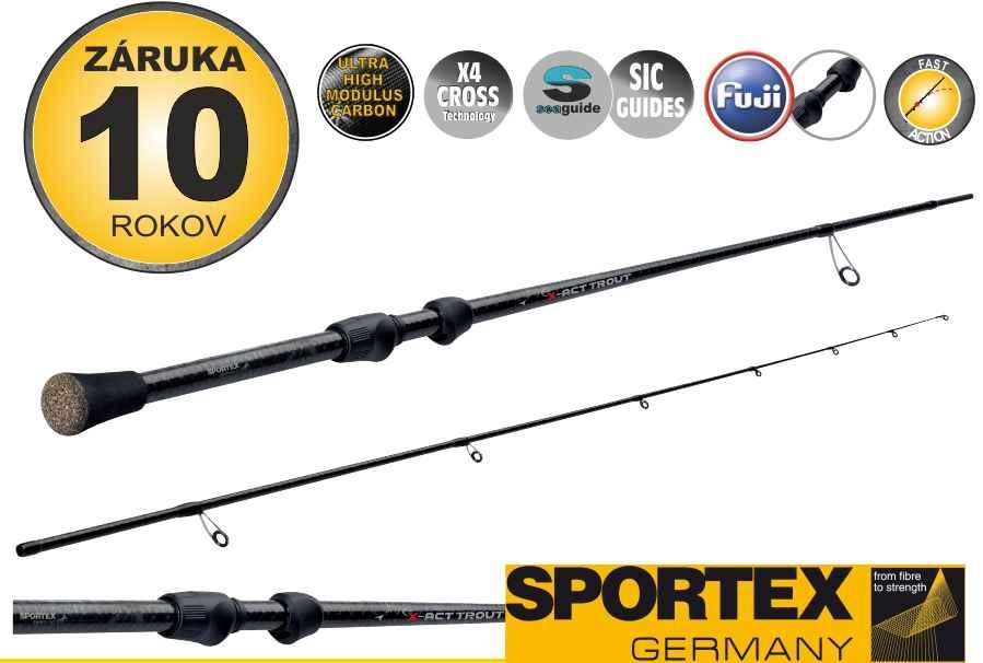 Přívlačové pruty SPORTEX X-Act Trout 2-díl 185cm / 10g