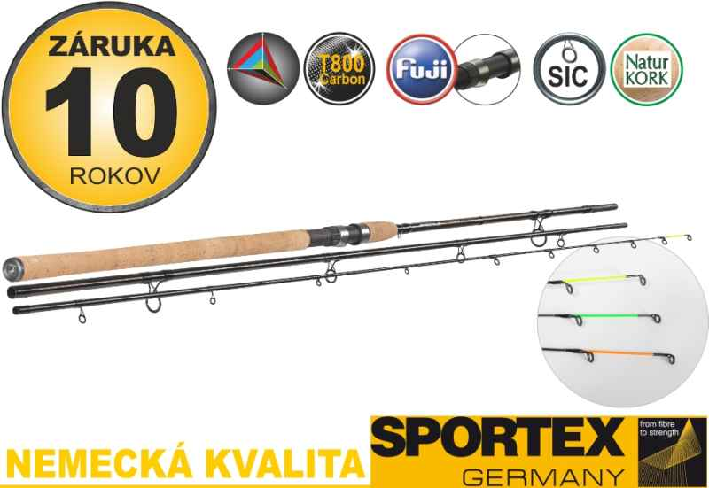 Sportex Xclusive Medium Light Feeder NT 390cm, 60-120g