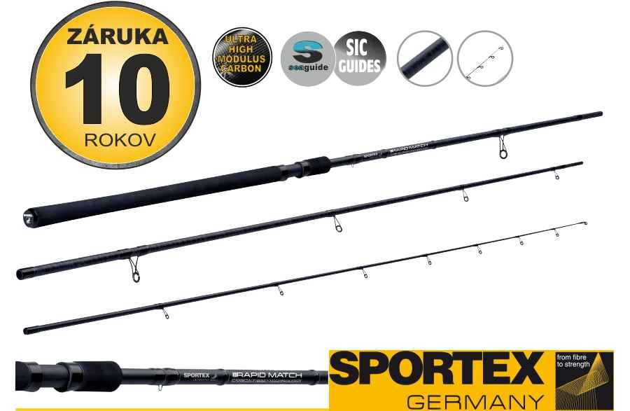 Match pruty SPORTEX Rapid Match 3-díl 360cm / 8-20g