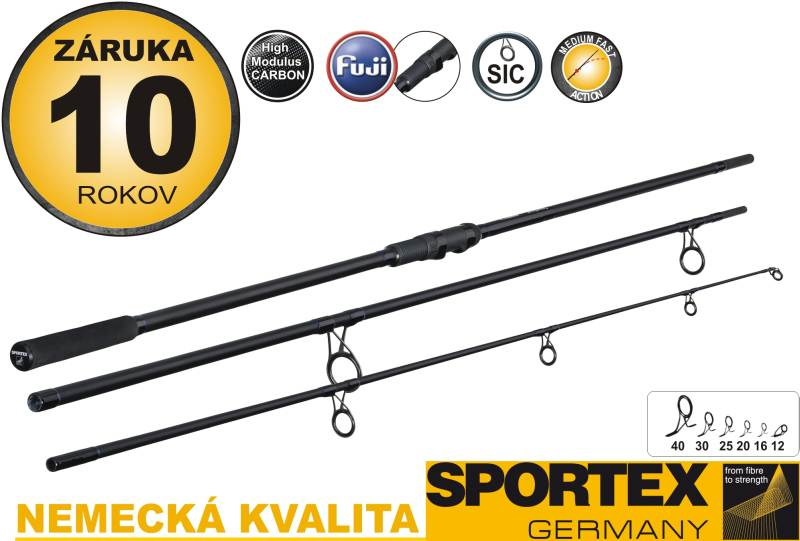 SPORTEX - COMPETITION Carp NT 3díl- 365cm, 3,25lb - 6ks