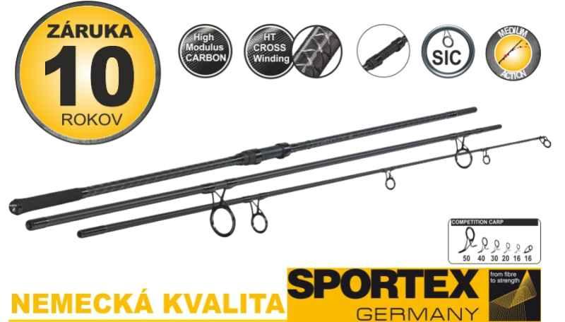 Kaprové pruty SPORTEX Competition Carp CS-4 3díl 365cm 3,25lb