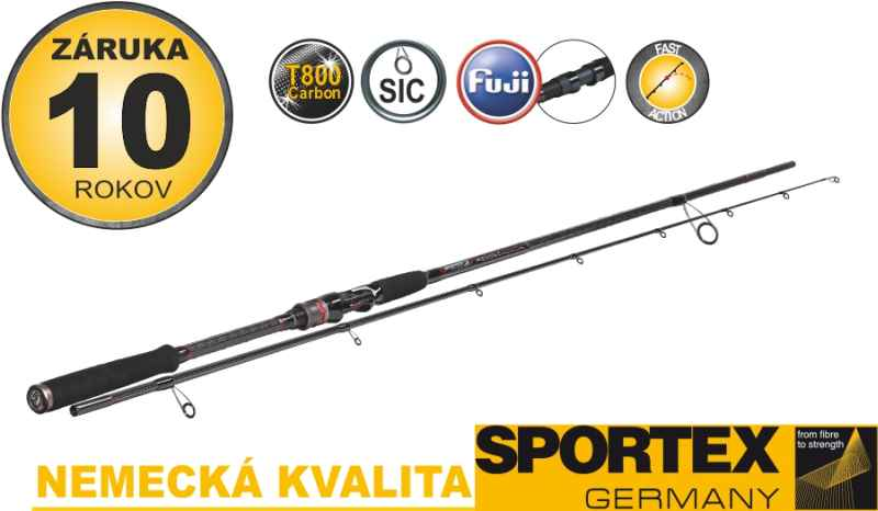 Vláčecí pruty SPORTEX Revolt Spin 2-díl 270cm 80g