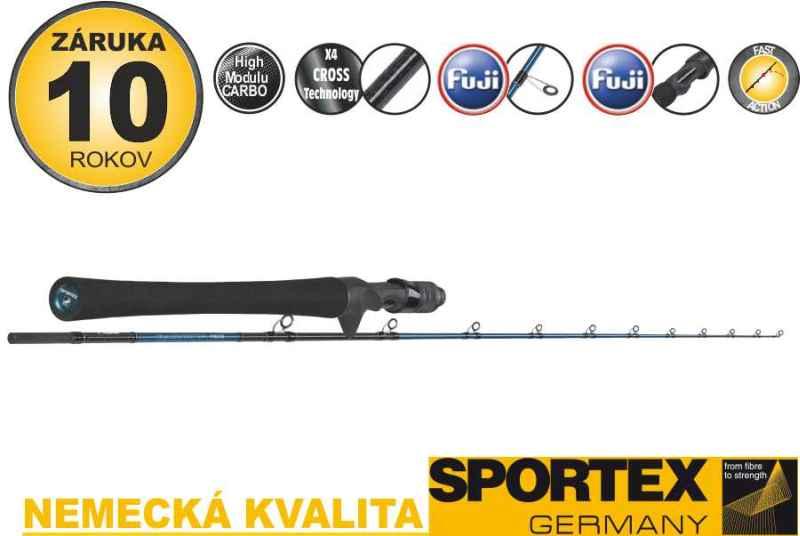Přívlačové pruty SPORTEX Bassista Jerk Baitcast 2-díl 190cm / 100g