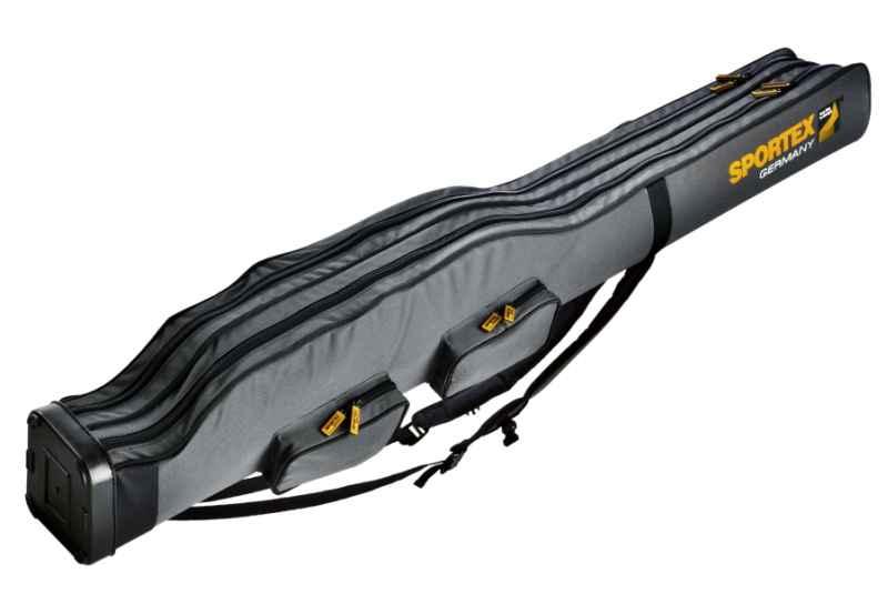 SPORTEX Pouzdro dvoukomorové pro 2 - 4 pruty V-šedé 150cm