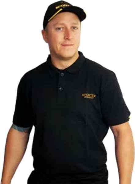 SPORTEX Classic Polokošile s logem - černá vel.M