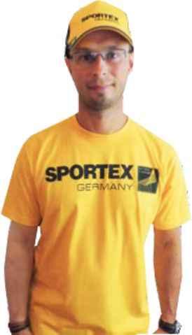 SPORTEX T-Shirt Tričko s velkým logem - žluté vel.M