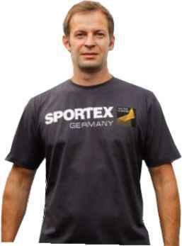 Sportex T-Shirt Tričko s velkým logem - tmavě šedé vel.L