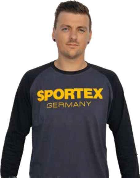SPORTEX Tričko s dlouhým rukávem a logem - černé vel.M