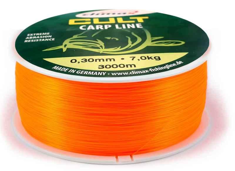 Climax silon CULT Carpline oranžový 3000m 0,28mm 6,8kg / 10lb