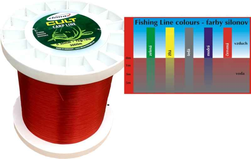 Climax silon CULT Carpline červený 300m 0,22mm 4,5kg / 10lb