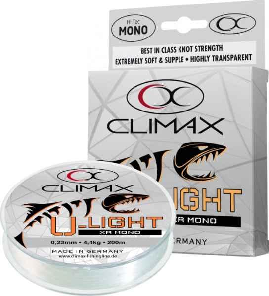 Silon Climax U-Light XR Mono transparent 200m 0,14mm 1,8kg