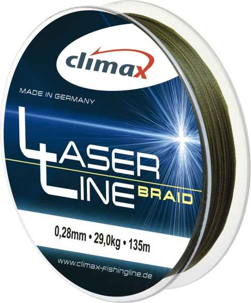 Climax šnůra 135m - Laser Braid 0,04mm 6vlaken