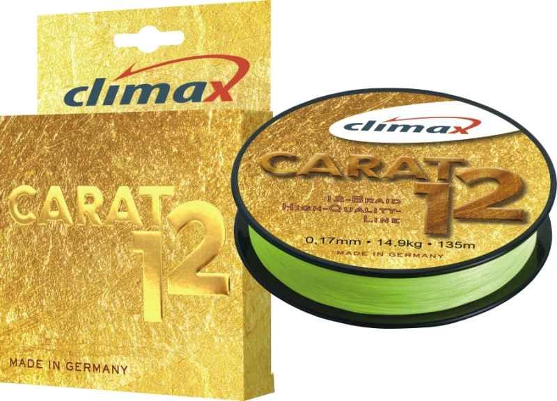 Přívlačová šnůra Climax Carat 12 Žlutá 135m 0,13/9,5kg