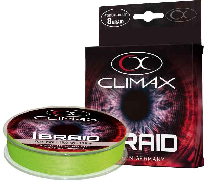 Pletená šňůra Climax iBraid neon-zelená 135m 0,16mm 14,2kg