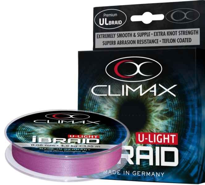 Pletená šňůra Climax iBraid U-Light fluo-fialová 135m 0,04/3kg