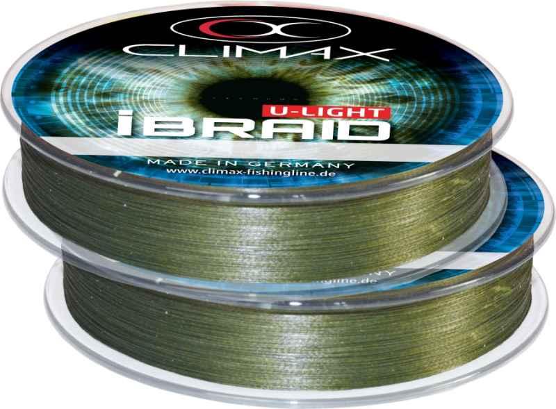 Pletená šňůra iBraid U-Light oliva 100m 0,10mm / 7,5kg