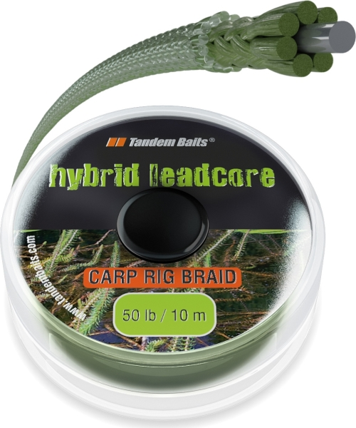 FC Hybrid Leadcore 50 lb / 10 m barva trávy