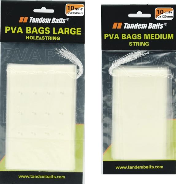 PVA sáčky Large s nití 100x150mm / 10ks
