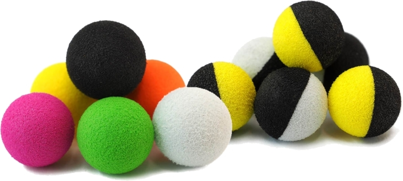 Nástraha - Zig-Balls 10 mm / 6 ks -Tandem Baits  fluo žlutá