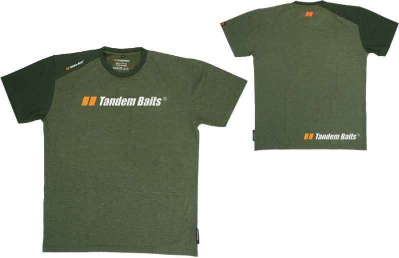 Tričko Tandem Baits krátký rukáv - zelené M