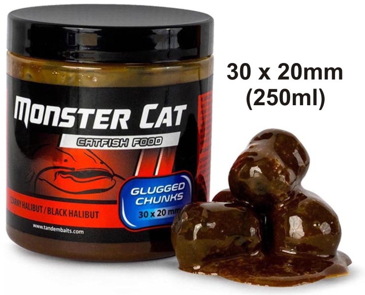 Monster Cat Glugged pelety 30x20mm/300g Tandem Baits 199 22110 - Monster Cat Glugged pelety 30x20mm/300g Tandem Baits